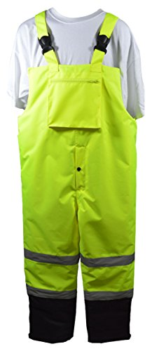 Petra Roc LQBBIP-CE-M ANSI/ISEA 107-2015 Class E Waterproof Quilted Thermal Bib Rain Pants, Size M, ()