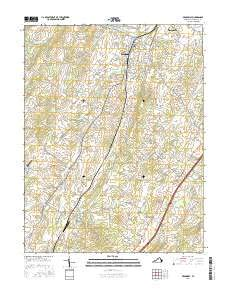 Broadway, Virginia topo map by East View Geospatial, 1:24:000, 7.5 x 7.5 Minutes, US Topo, 22.8