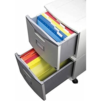 Storex 2-Drawer Mobile File Cabinet With Lock and Casters, Legal Letter, Drop Ship Approved Packing Gray Black