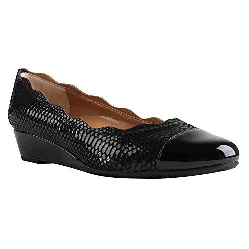 Renee Shoe Fedosia M Leather Size Women's Black Black 8 On Slip J dqXAEX