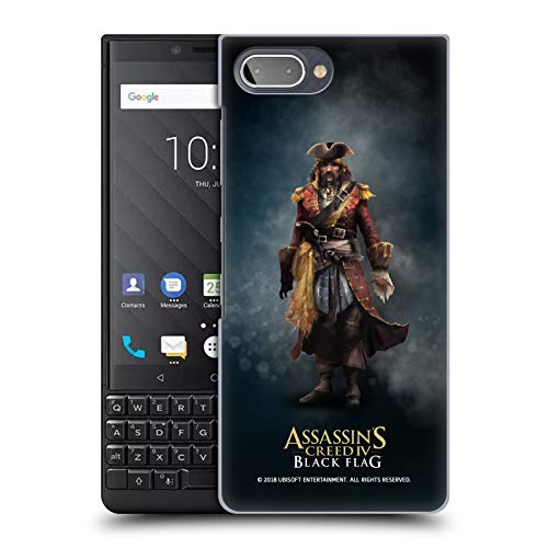 Official Assassin's Creed Bartholomew Roberts Black Flag Characters Hard Back Case for BlackBerry KEY2