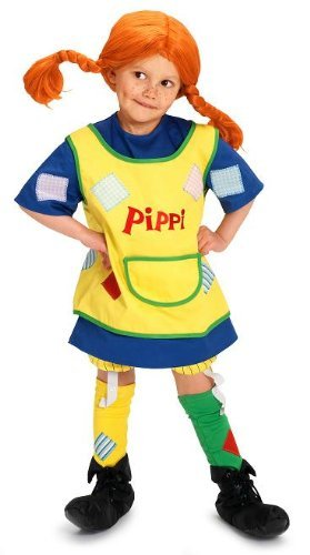 Glow2B Pippi Langstrumpf 44.3600.05 - Disfraz infantil de Pippi Calzaslargas (3 años)
