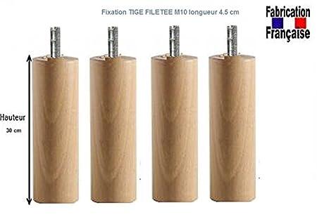 Wood select Piede Letto 25/cm Diversi Tipi di Fissaggio Pied Standard