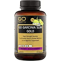 Weight Loss Supplements Garcinia Cambogia Extract | Diet Pills | 120 Capsules | 12,000mg | 600mg HCA | Suppresses Appetite | Supports Healthy Weight Loss & General Well Being | GO Healthy Garcinia Slim Gold