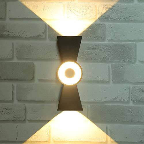 Tenlison LED Porch Sconce Light 10W, Black Modern Wall Mount Lights,1000 Lumen 100-240V, 3000K (Daylight Glow), IP65 Waterproof Outdoor Down Light 3LEDS