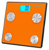 Pyle Health PHLSCBT4OR Bluetooth Digital Weight Personal Health Scale with  ....