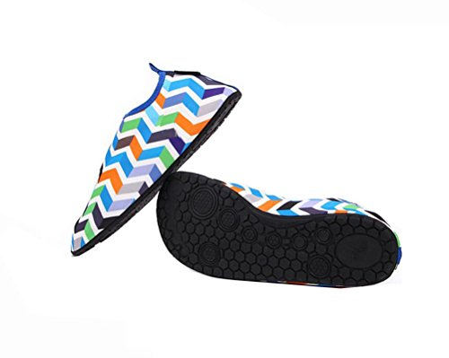 Ake Skin Outdoor Socks Barefoot Soft Water Sport Yoga Cloth Aqua Unisex for Shoes Wading Shoes Swim Beach Blue Elastic RqrR1wE