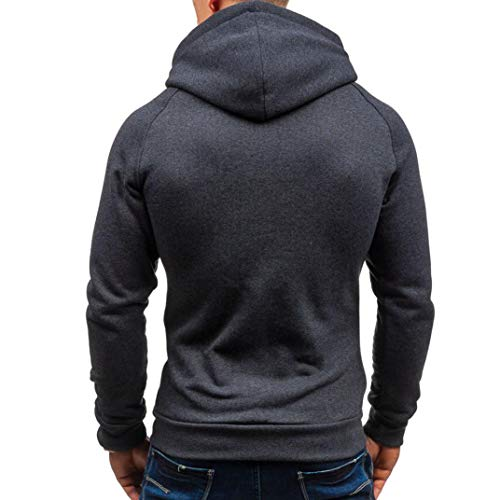 Solide Outwear Top Gris Sweat Automne Tefamore Hommes Capuche À E6xqpC1nw