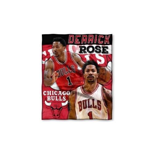 - Northwest NOR-1PLY575002001RET Chicago Bulls NBA Derrick Rose Silk Touch Throw, 50 x 60 in.