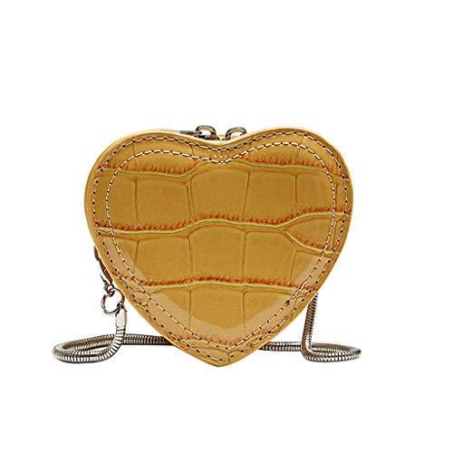 Women Shoulder Bag Messenger Bag Mobile Phone Bag Cross-Body Bag Serpentine Leather Heart-Shape Purse Designer (Serpentine Shape)