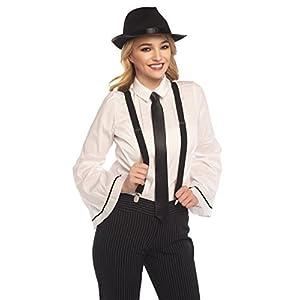 NJ Novelty Gangster Costume Hat, Suspenders and Tie Set Roaring 20s Accessories