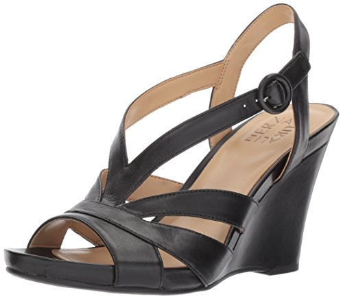 Naturalizer Women's Brandy Wedge Sandal,black,8 M (Naturalizer Wedge Shoes)
