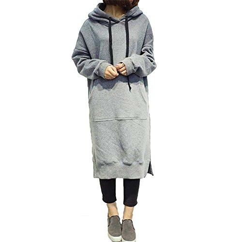 Femmes sweat à capuche surdimensionné - hibote lâche sweat à capuche pull  robe maxi décontracté pull 96e5b906f7af