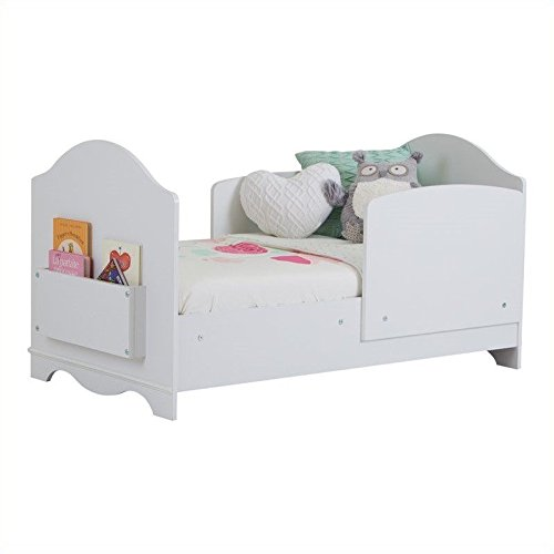 South Shore Savannah Toddler Bed with Side Panels, Pure White ()