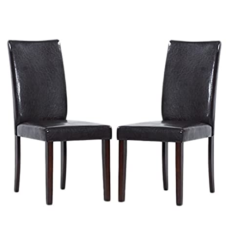 Warehouse Of Tiffany Shino Brown Bi Cast Leather Dining Chairs (Set Of 8)