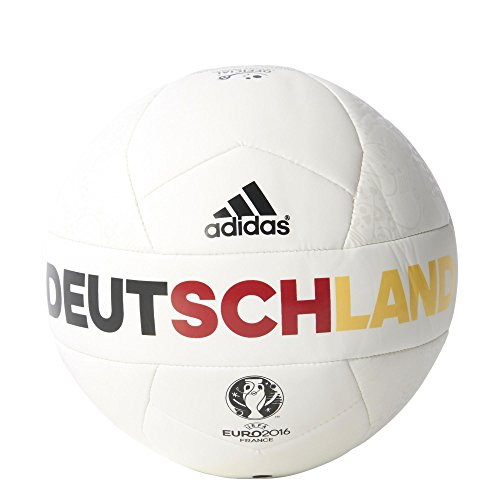 adidas Herren Ball EURO 2016 OLP Deutschland Mini, White/Eqt Yellow/Power Red, 1, AC5466