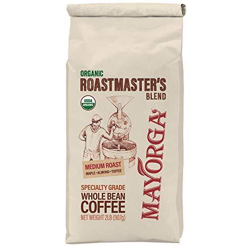 Mayorga Organics Roastmaster's Blend, Medium Roast, Whole Bean 2 lb bag