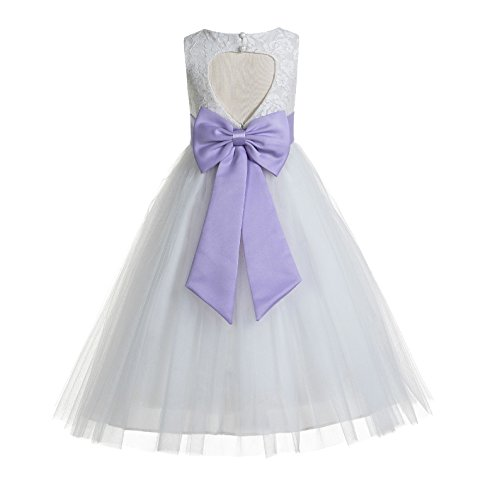 ekidsbridal Floral Lace Heart Cutout Ivory Flower Girl Dresses First Communion Dresses Baptism Dress 172T 6]()