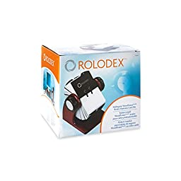 Rolodex Wood Tones Collection Open Rotary Business Card File, 400-Card, Mahogany (1734242)