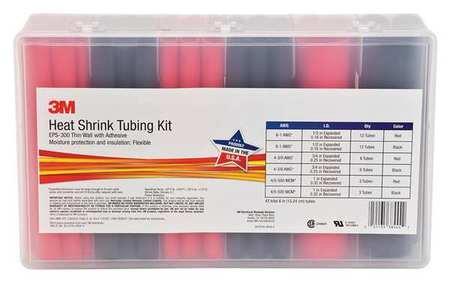 Heat Shrink Tubing Kit, Red, Black, 42 Pc