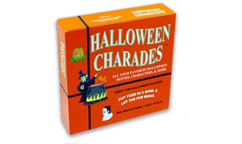 Halloween Charades - the perfect Halloween Party Game - This Original Charades Game has characters like Count Dracula and more from your favorite Halloween Horror Movies and Halloween TV Shows!]()