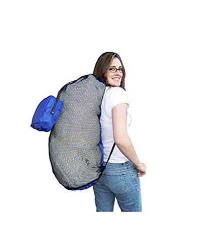 Lightweight Fold Up Mesh Nylon Backpack Bag with Drawstring ()