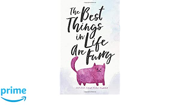 Ub Calendar 2020 2019 2020 2 Year Pocket Planner; The Best Things in Life Are Furry