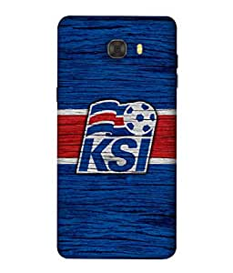 ColorKing Football Iceland 05 Blue shell case cover for Samsung C7 Pro