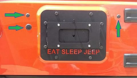 3 Body Plugs / Tailgate Plugs for Jeep Wrangler JK - Removed Tire Carrier Bumper Tramp Stamp (Carriers 2009)