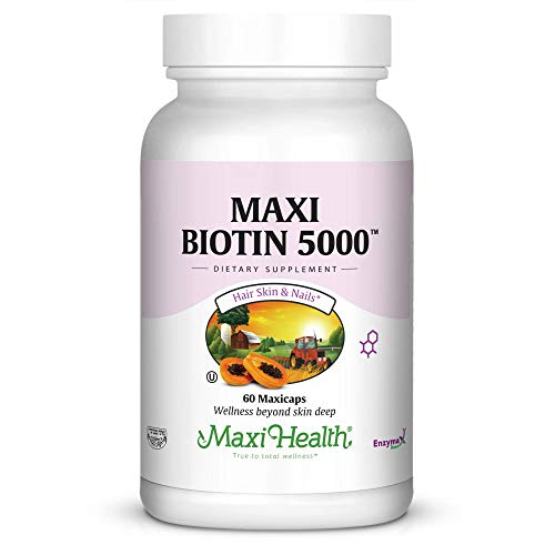 Maxi Health Kosher Vitamins Maxi Biotin – Hair & Skin Formula  5000, 60 Count – Kosher Review