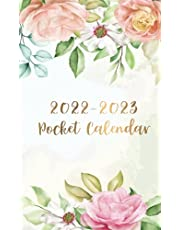 2022-2023 Pocket Calendar: Watercolor Flower Cover | 2022-2023 Two Year Monthly Pocket Planner | 24 Months Calendar | 2 Year Appointment Book Small Size Organizer with Holiday | Jan 2022-Dec 2023