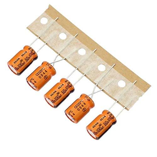 20x Elko Kondensator radial 100/µF 50V 125/°C ; RK-50V101MG3GYX-TA2 ; 100uF