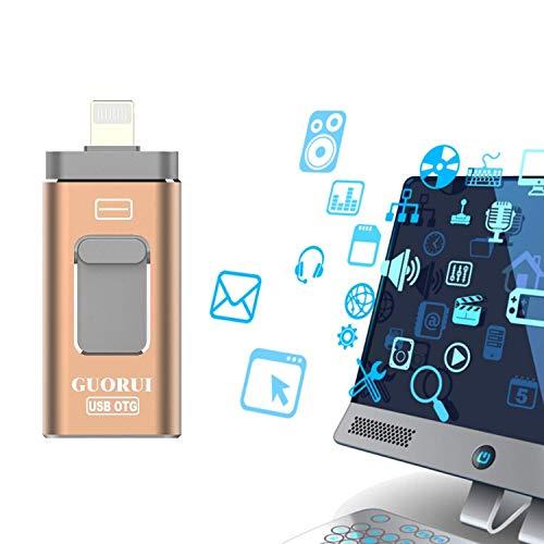 GUORUI USB Flash Drive for iPhone iPad 32GB-Lightning Memory