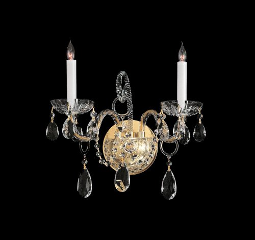 - Bohemian Crystal 2 Light Wall Sconce with Crystals Finish: Chrome, Crystal Type: Swarovski Spectra