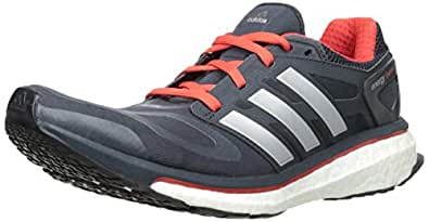 adidas Performance Men's Energy Boost M Cushioned Running Shoe, Night Shade/Red, 14 M US