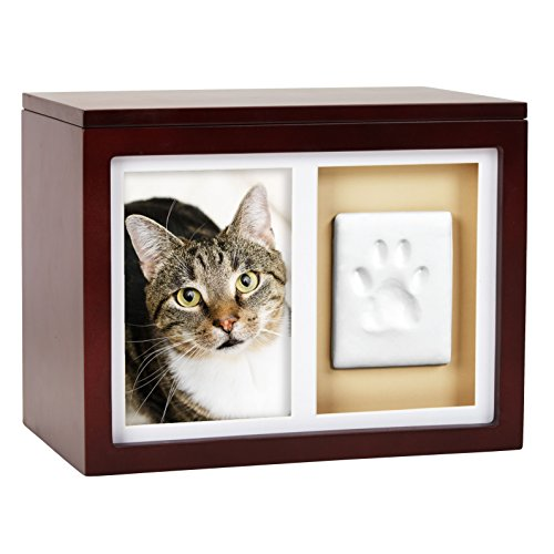 Pearhead-Dog-Or-Cat-Paw-Prints-Pet-Memory-Box-With-Clay-Imprint-Kit-Perfect-Pet-Memorial-Espresso