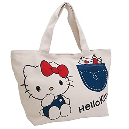 8adb35402bb Image Unavailable. Image not available for. Color  Sanrio Hello Kitty Tote  Bag ...
