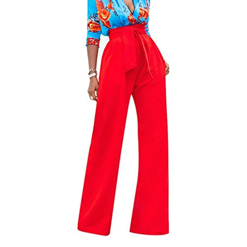 Style Eleganti Rot Lunga Autunno Cintura Tuta Waist High Pantalone Larghi Palazzo Tempo Libero Festa Pantaloni Monocromo Donna Inclusa Fit Slim Fashion Ragazze PqCxEwtB