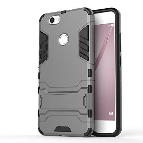SRY-Conjuntos de teléfonos móviles de Huawei Cubierta de la caja de Huawei NOVA, 2 en 1 caja fresca a prueba de golpes del teléfono de la contraportada para Huawei NOVA Proteja completamente el teléfo Gray