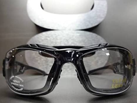 67f209b0e Amazon.com : SPORT RACQUETBALL Lens Lensless PROTECTIVE PADDED SAFETY  GLASSES GOGGLES EYEWEAR : Everything Else