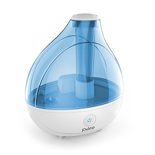 Authentic Enrichment MistAire Ultrasonic Cool Mist Humidifier - Premium Humidifying Unit with Whisper-Quiet Operation, Automatic Shut-Off, and Night Ignition Function