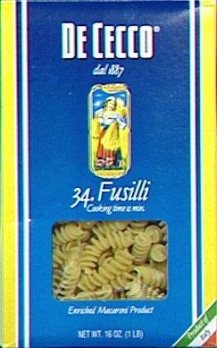Price comparison product image De Cecco Fusilli 16.0 OZ (Pack of 6)