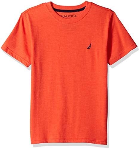 Nautica Boys' Short Sleeve Solid Crew-Neck T-Shirt, Westport Firework, Medium (10/12) (Sleeve Firework Short T-shirt)