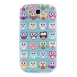 MOFY- Mate estilo encantador Owl Pattern caso duro durable Cartoon para Samsung Galaxy S3 I9300