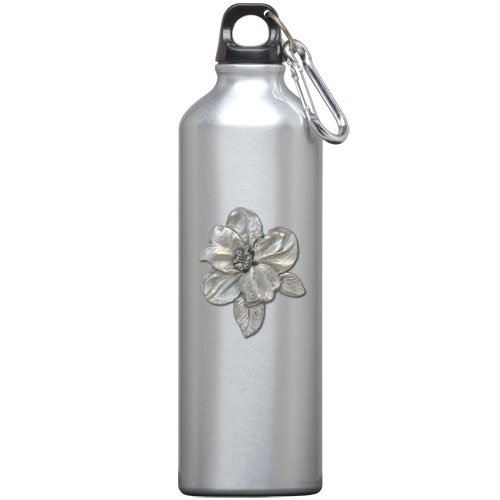 1pc, Pewter Apple Blossom Water Bottle ()