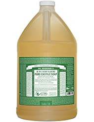Dr. Bronner's Pure-Castile Liquid Soap – Almond, 1 Gallon