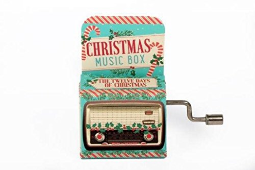 THE 12 DAYS OF CHRISTMAS Mini Mechanical Crank Music Box