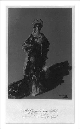 Historic Print (L): Jennie Jerome as Countess Olivia in Twelfth - Jerome Olivia