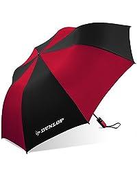 Dunlop - Paraguas plegable para dos personas, 56-dl, color negro y rojo, Negro/Rojo, Una talla