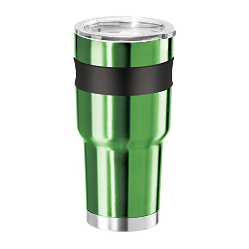 Mug Stainless Liner - Oggi Contour X-Large Double Wall Vacuum Sealed Stainless Steel Tumbler with Liner Thermal Travel Mug, 30 oz, Green
